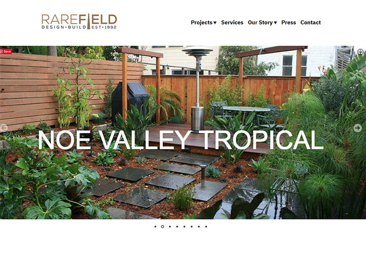 RareField Design/Build, design and development
