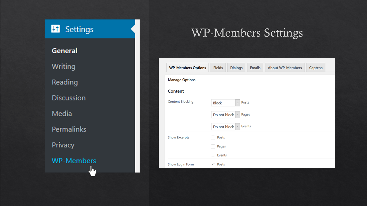 WP-Members Plugin Settings