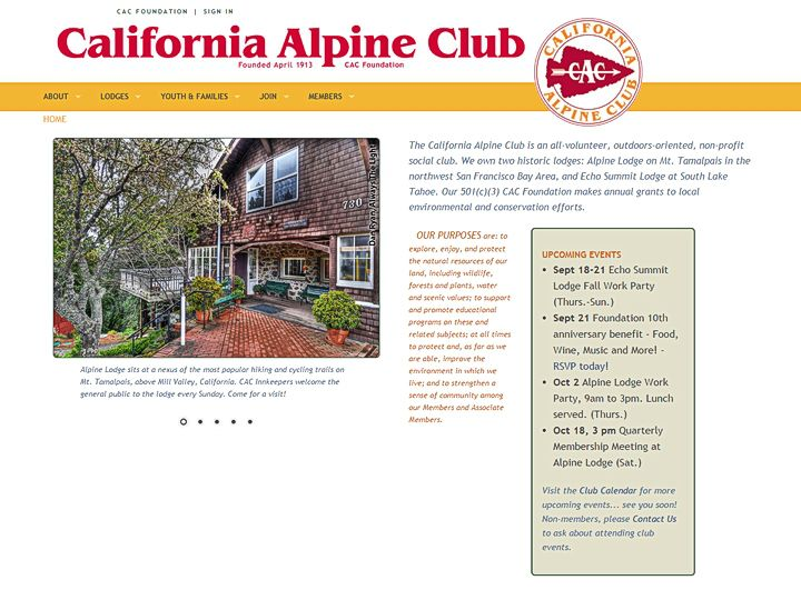 California Alpine Club, development