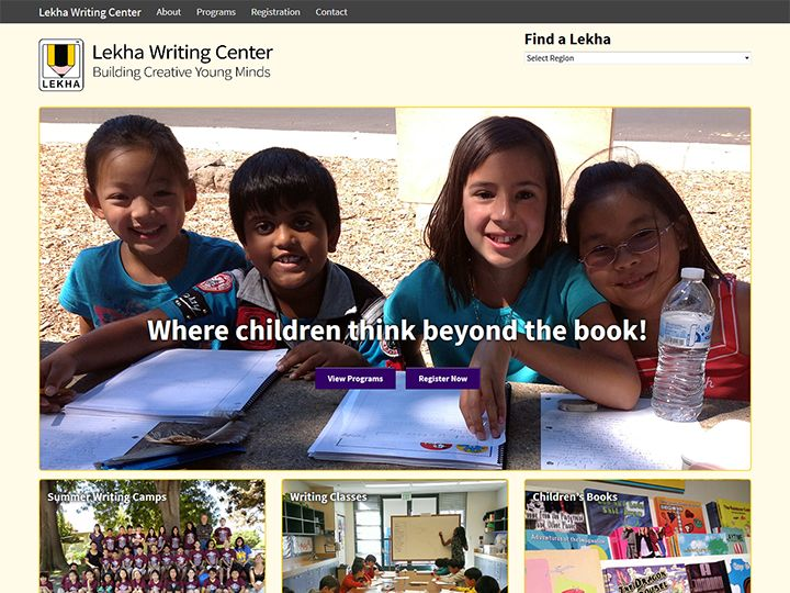 Lekha Writing Center, design and development